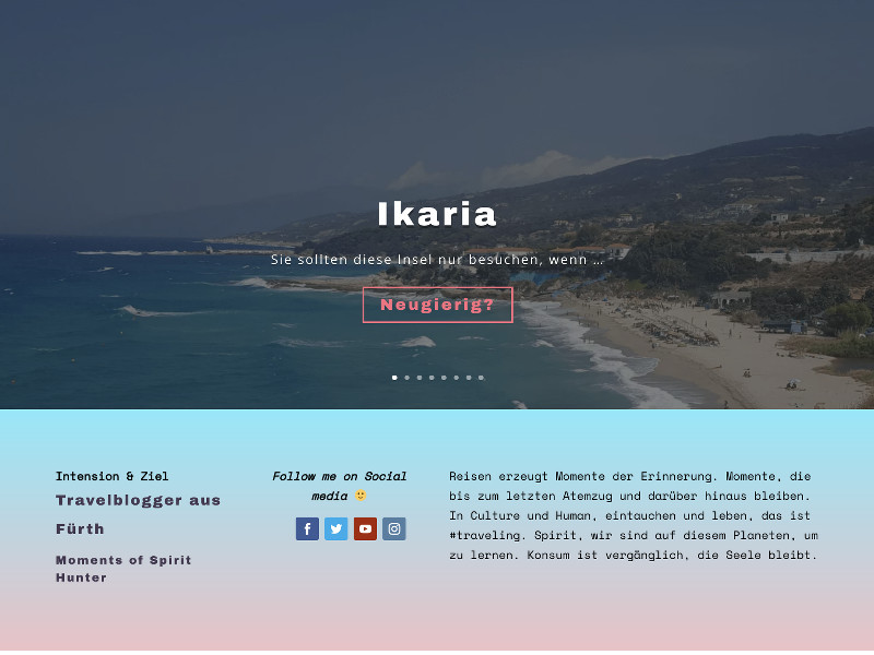 Travelblog Franken Screenshot